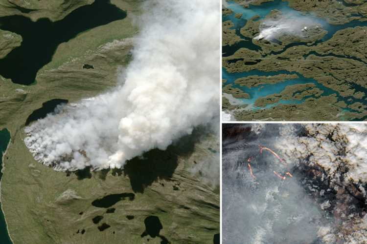 Dormant 'zombie fires' are burning in the Arctic again after 'hiding underground for a YEAR'