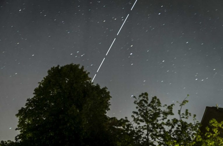 Incredible photos show Elon Musk's Starlink satellites over UK as latest launch is pushed back