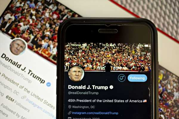 Twitter Adds Fact-Checking Label to Trump Tweets for First Time
