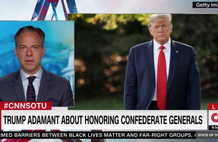 Jake Tapper: 'Trump Stands With Dead, Racist Losers' by Honoring Confederate Commanders