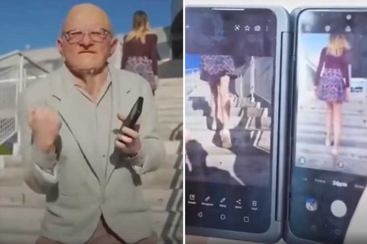 Vile LG ad shows old man snapping secret 'upskirt' photos with new phone