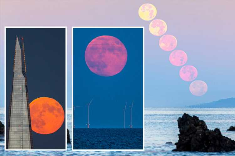 How to spot Strawberry Moon – bright pink lunar display to grace skies this week
