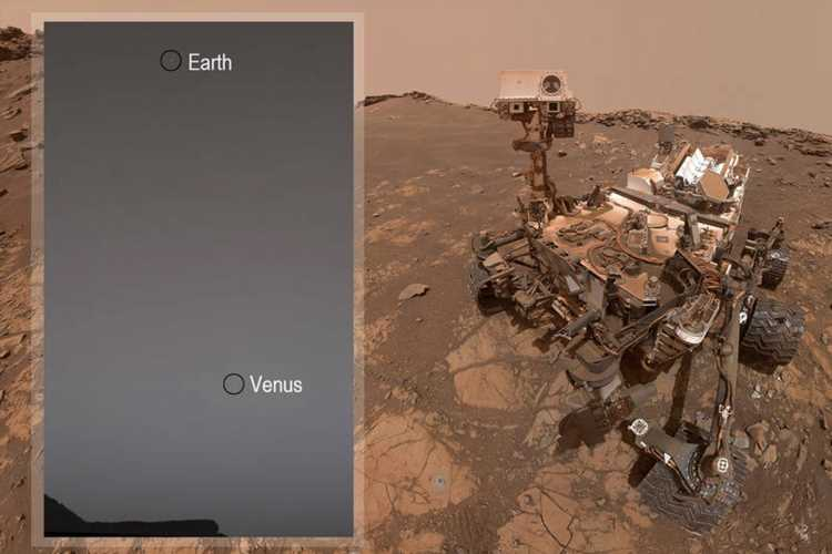 Incredible photo of Venus and Earth taken from the surface of Mars by Nasa's Curiosity rover