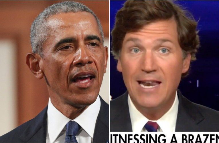Tucker Carlson Accuses 'Greasy Politician' Obama Of 'Desecrating A Funeral'