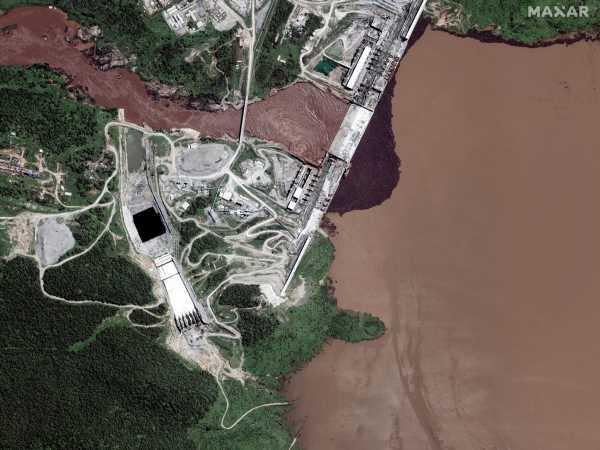 Satellite Images Show Ethiopia Dam Reservoir Is Rising