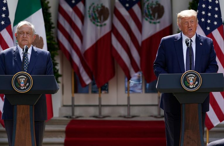 Trump touts USMCA with Mexican president at White House