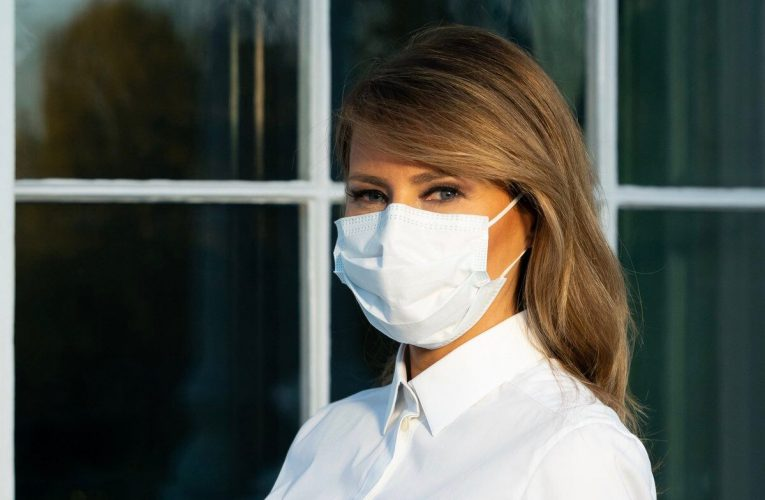 Melania Trump posts photo in face covering, promotes mask-wearing
