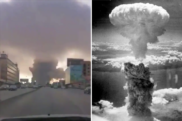 What causes a mushroom cloud and was the Beirut explosion nuclear?