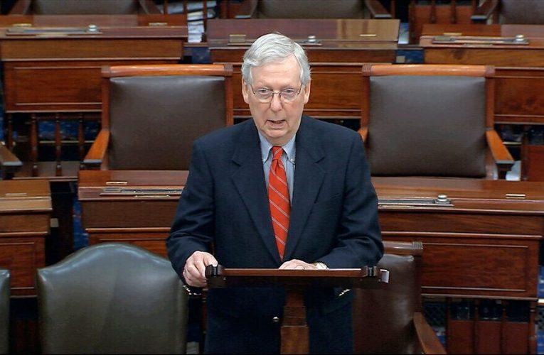 Mitch McConnell calls Senate Republicans 'the firewall against Nancy Pelosi's agenda' in RNC speech