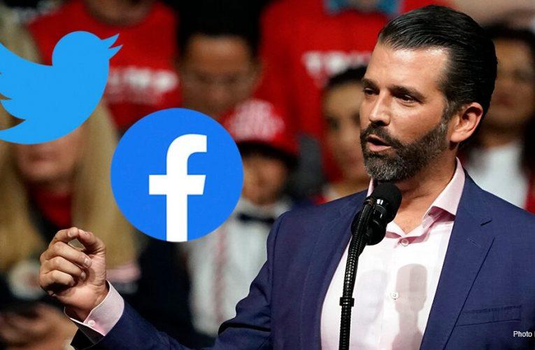 Donald Trump Jr. blasts tech giants over report that Facebook, Twitter censor anti-Biden posts
