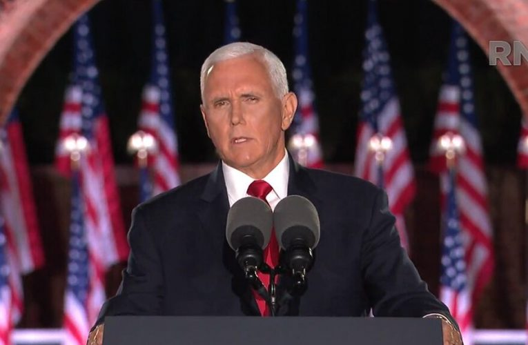 Pence accepts VP nomination, warns voters 'you won't be safe in Joe Biden's America'