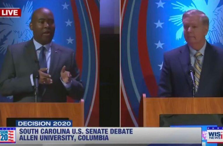 Challenger Jaime Harrison Faces Sen. Lindsey Graham Behind Plexiglass In First Debate