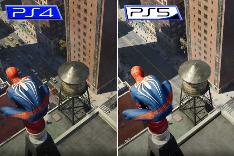 PS5 vs PS4 video reveals stunning new graphics in Spider-Man game – and it's incredible