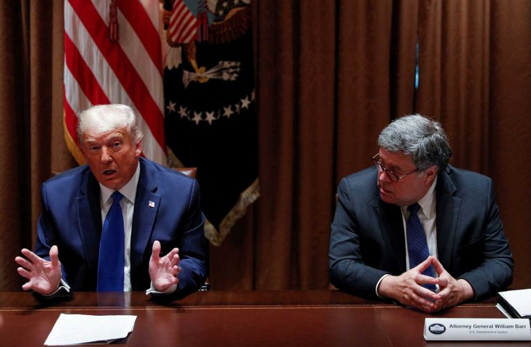 Trump declines to say he will bring back Attorney General Barr if he wins: 'I'm not happy'