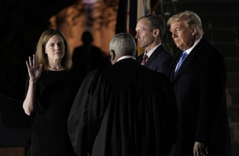 Amy Coney Barrett Quickly Enters Fray of Trump's Acrimonious Legal Battles