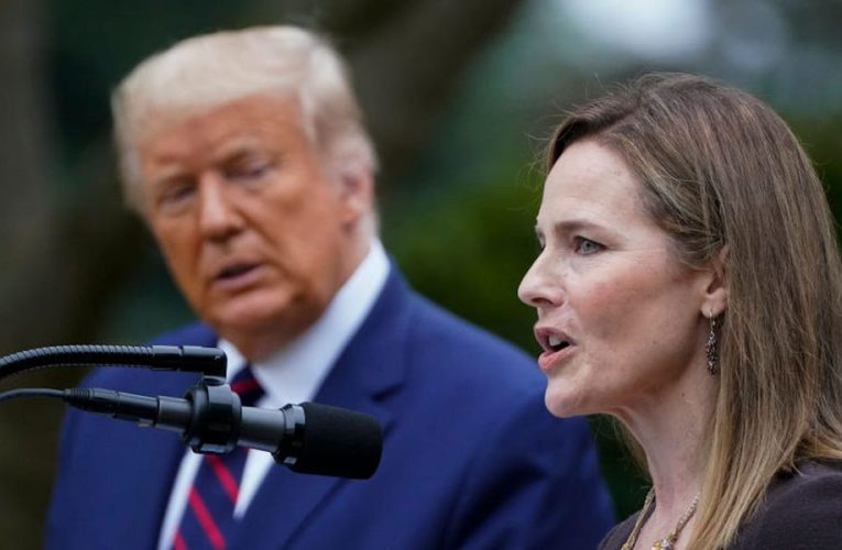 A slim majority of Americans now support confirming Amy Coney Barrett, including 32% of Democratic voters, new poll shows