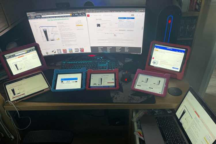Desperate dad reveals 'PS5 war room' with EIGHT screens where he spent 13 hours trying to buy console