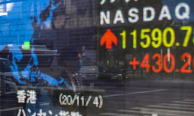 Global stock markets climb on prospect of Biden presidency