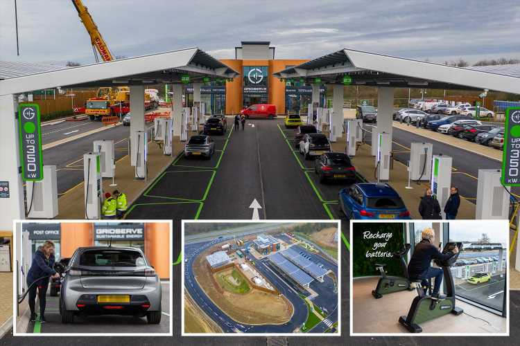 Britain's first all-electric forecourt opens with state-of-the-art facilities