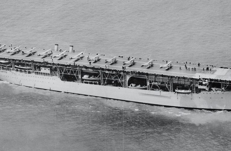 The Navy's first aircraft carrier entered service 98 years ago, but it didn't start life as a flattop
