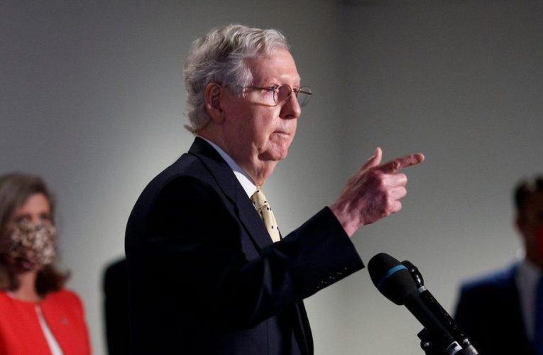 McConnell lashed out at Democrats over COVID-19 stimulus negotiations, claiming his bill already addresses a 'bipartisan consensus' and refusing to endorse the one that is actually bipartisan