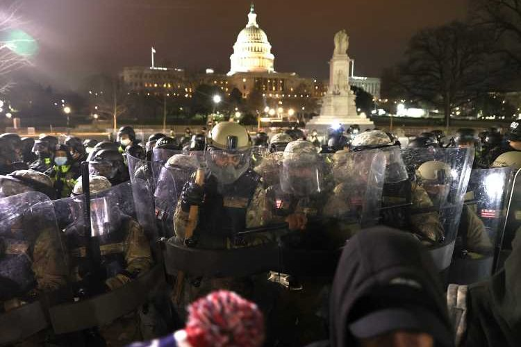 National Guard Arrives on Scene at the U.S. Capitol After a Day of Chaos