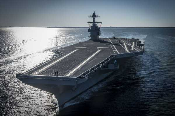 Navy's Priciest Carrier Ever Struggles to Get Jets On, Off Deck