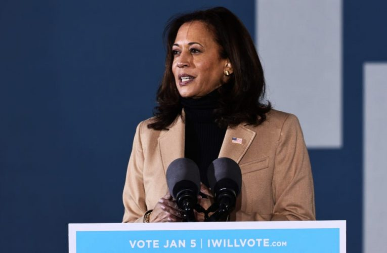 'A bald-faced, bold abuse of power': Kamala Harris slams Trump's phone call urging Georgia GOP official to overturn the election