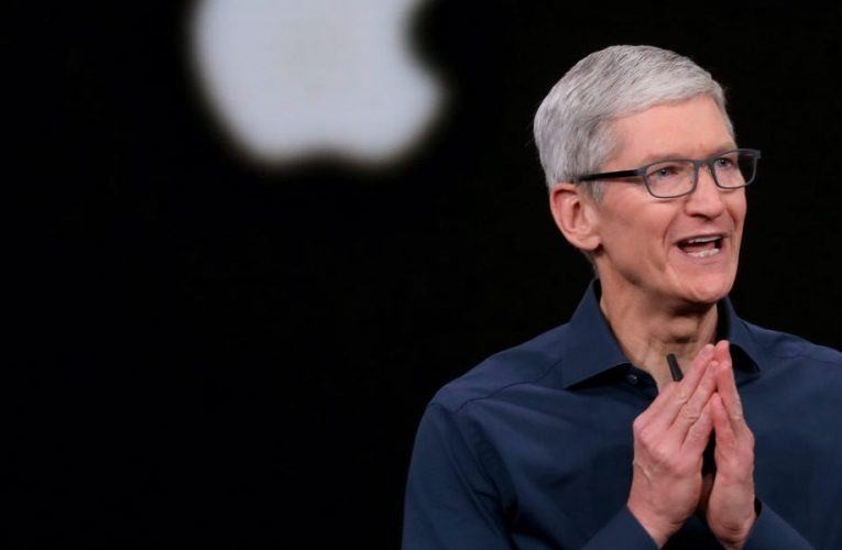 Apple CEO Tim Cook's pay soared nearly 30% last year to almost $15 million as the iPhone maker thrived amid the pandemic