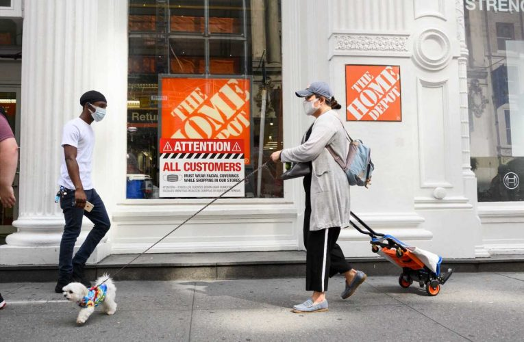 Home Depot tops estimates as sales surge 25%, but shares fall on worries pandemic gains won't last
