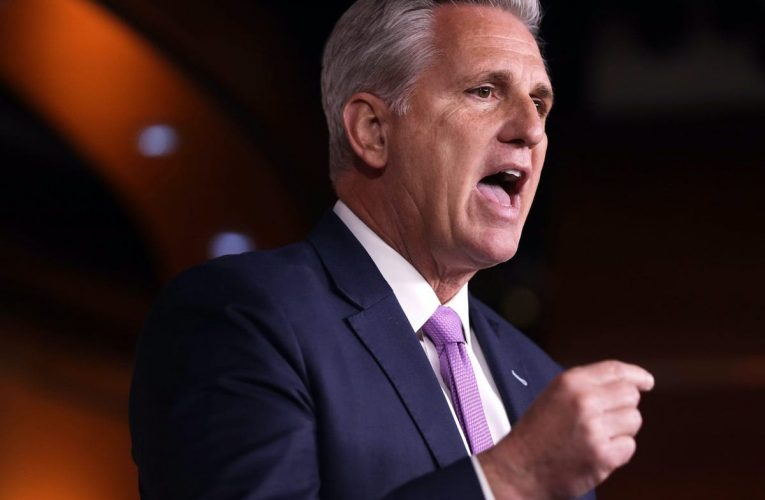 GOP Rep. Kevin McCarthy said he'd bet his 'personal house' that Republicans will 'get the majority back' in 2022