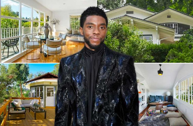 Inside Chadwick Boseman's final home before death — now listed to rent