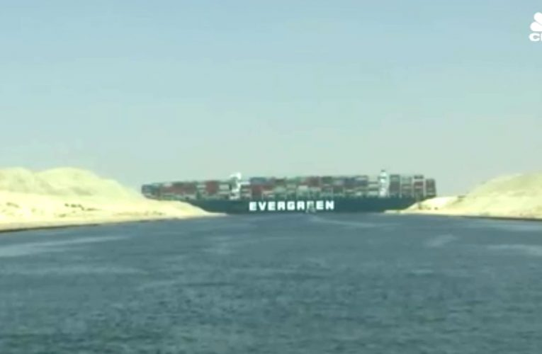 Ever Given, the massive cargo ship that ran aground in the Suez Canal, is still stuck