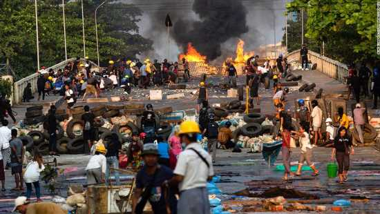 New images shows violence continuing to rise in Myanmar