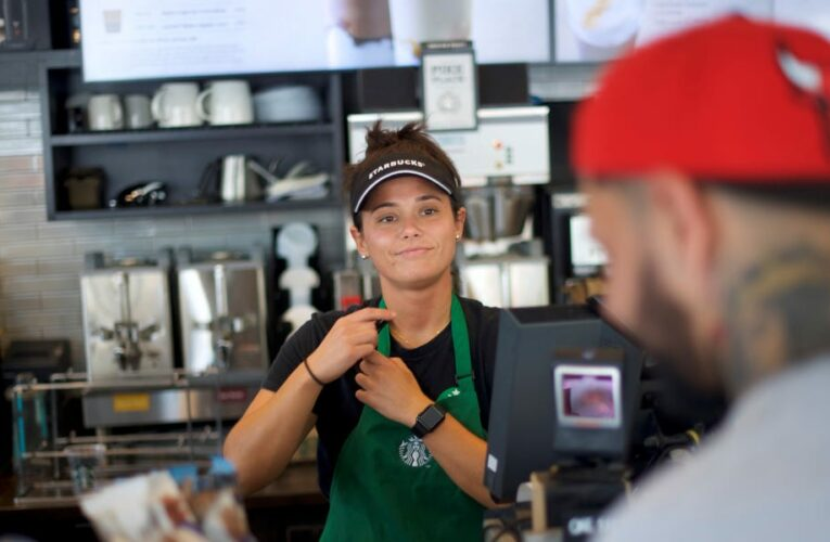Starbucks CEO says the worker shortage plaguing restaurants won't hurt the coffee chain because its employees' 'energy and spirit is high'
