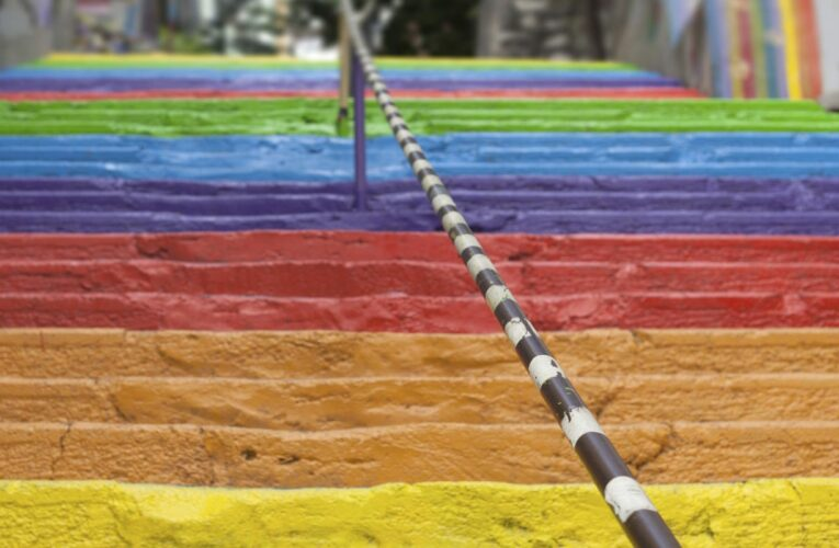 Fact check: Comedian satirically altered image to show pride-themed, spike-covered underpass