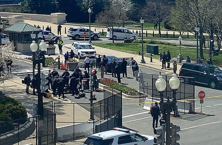 Capitol lockdown: Suspect shot after ramming into barrier, pulling out knife; 2 officers injured