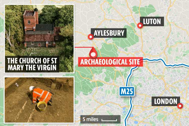 Over 3,000 bodies will be 'dug up and moved' from medieval English burial site built 1,000 YEARS ago for HS2 trainline