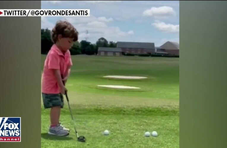 DeSantis' viral tweet shows off 3-year-old son's golf skills: 'He's got a great future'