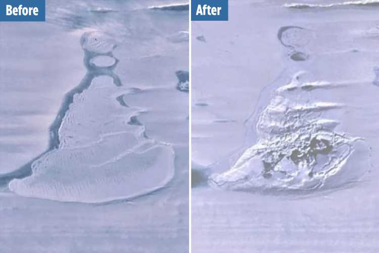 Enormous Antarctic lake has VANISHED in satellite pics leaving scientists baffled