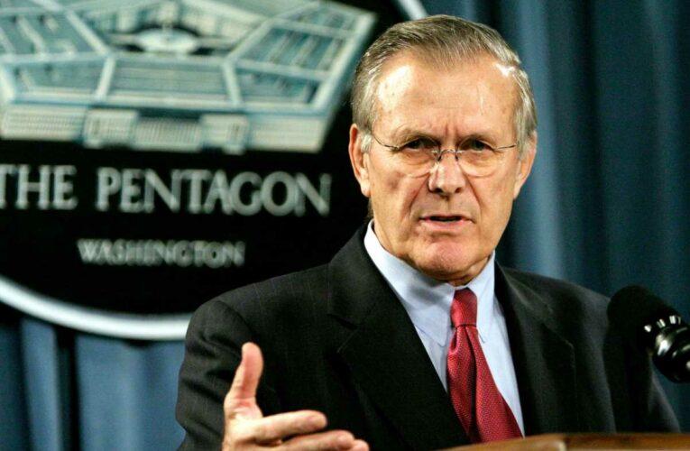 Former Defense Secretary Donald Rumsfeld, who oversaw Iraq war, dies at 88