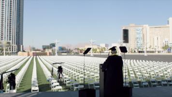 Former NRA president tricked into fake graduation speech for gun violence prevention video