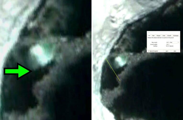 Google Earth user discovers giant 60ft 'metallic UFO' half-submerged in Antarctica