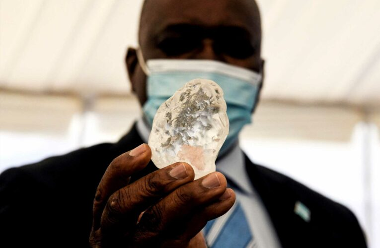 Huge 1,098-CARAT diamond the size of a fist is 'third largest ever found'