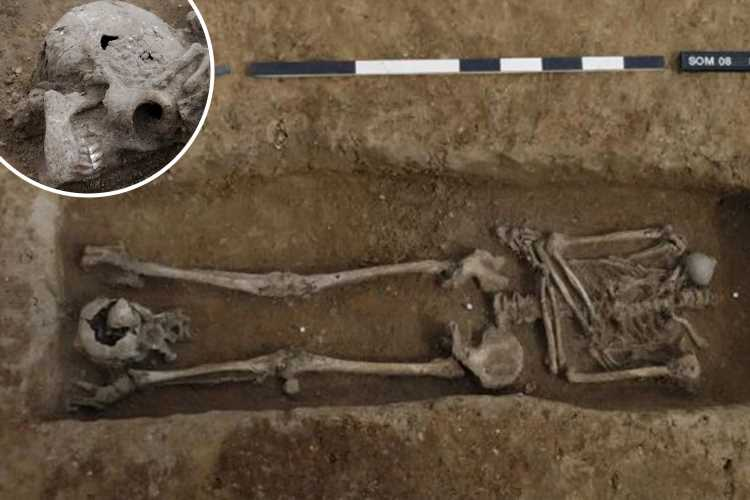 Mystery over 17 decapitated Roman skeletons 'executed' 1,700 years ago in Cambridgeshire