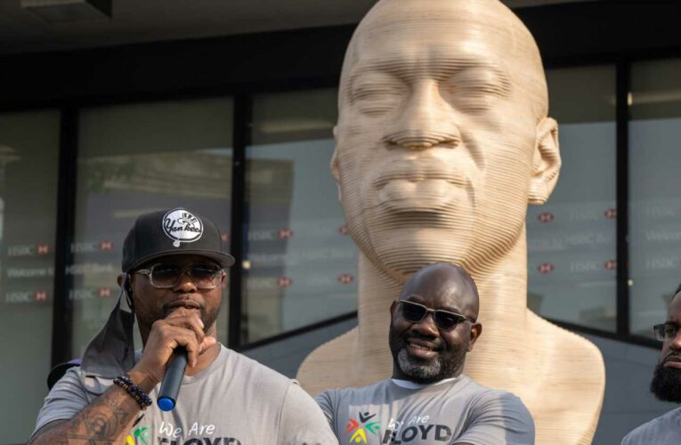 'Shameful': George Floyd statues, unveiled for Juneteenth, vandalized in NYC, New Jersey