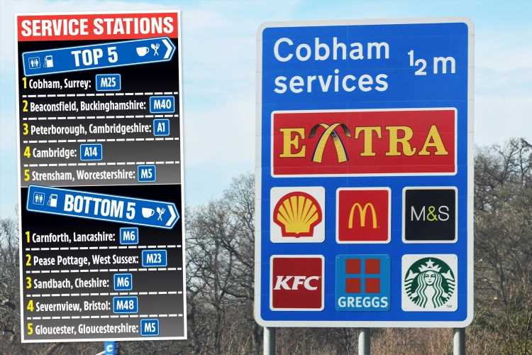 Cobham wins top motorway service station – where does your favourite rank?