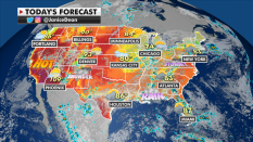 Northeast to see heavy rain; excessive heat bakes western US