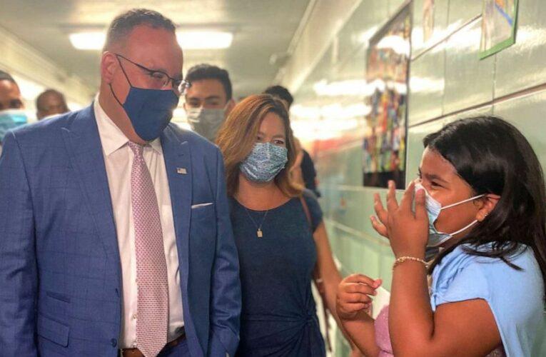 Education secretary says he's spoken with schools defying mask mandate bans