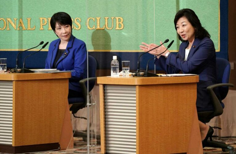 Race to become Japan's next prime minister includes 2 women who are political opposites
